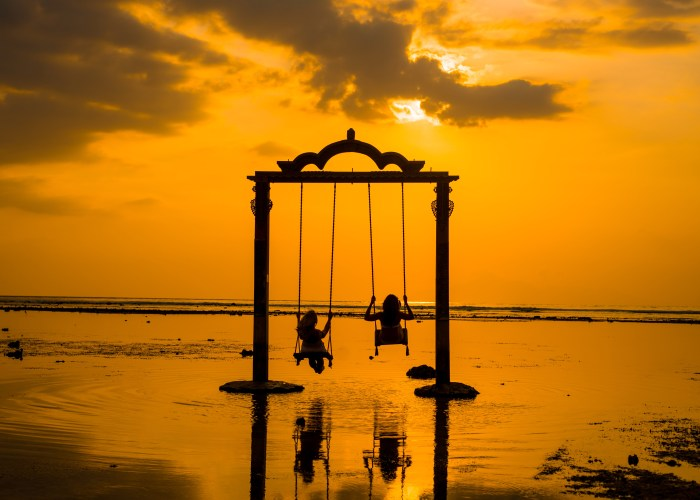 swings in the water