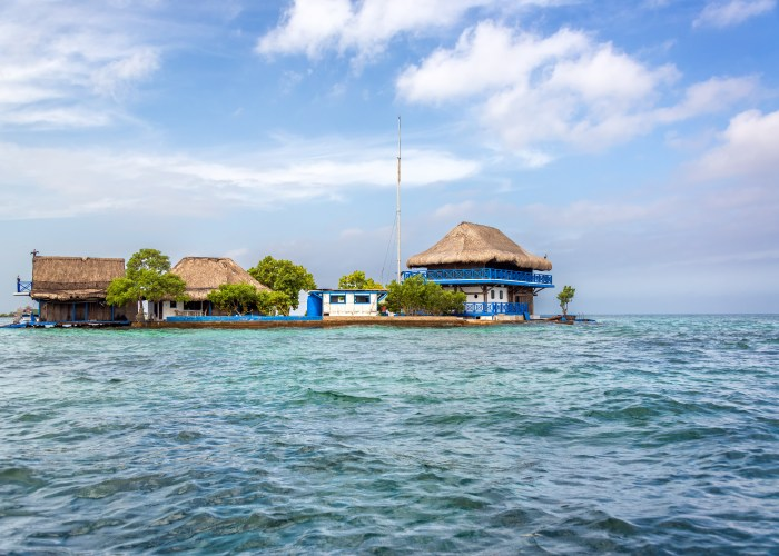 floating hut