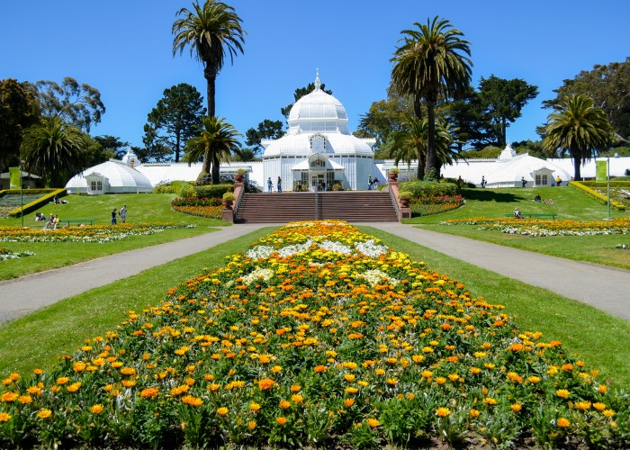 park with greenhouse
