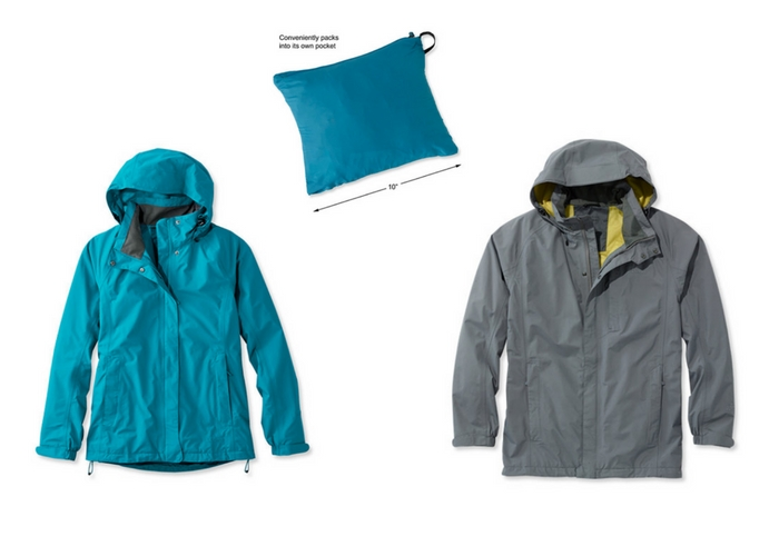 packable rain gear jacket