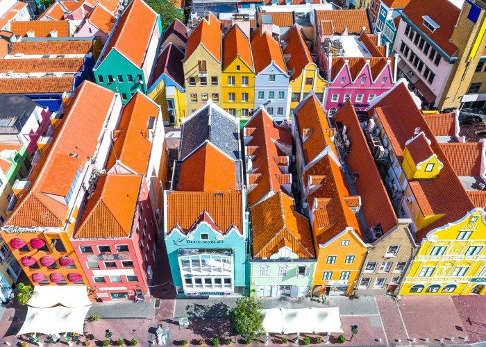 view of colorful homes on caribbean island