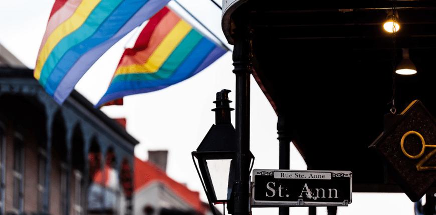 new orleans louisiana rainbow flags