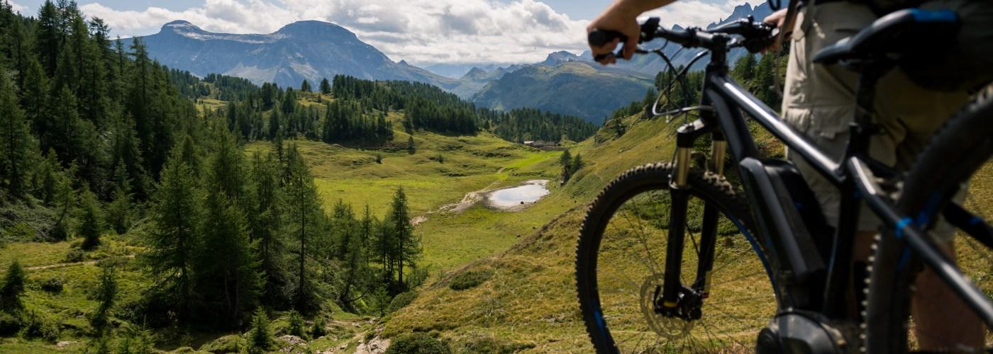 E-bikes enjoying the view