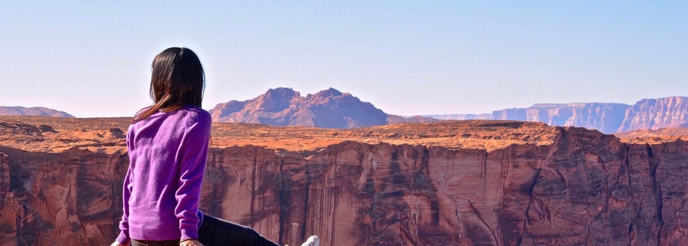 Woman-Sitting-Looking-Canyon