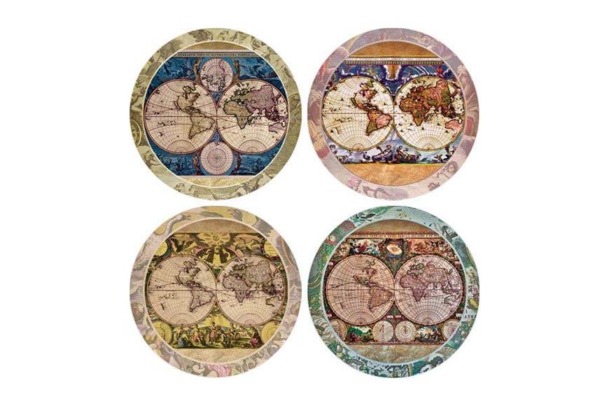 CoasterStone old world map coasters