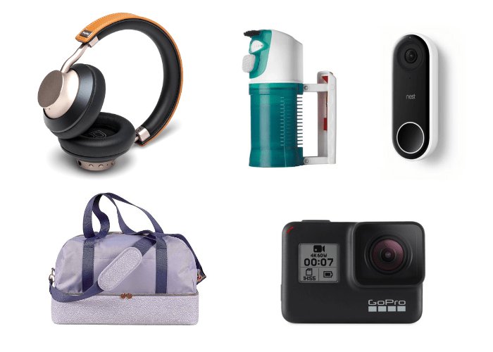 gives to give yourself headphones steamer video camera weekend bag go pro