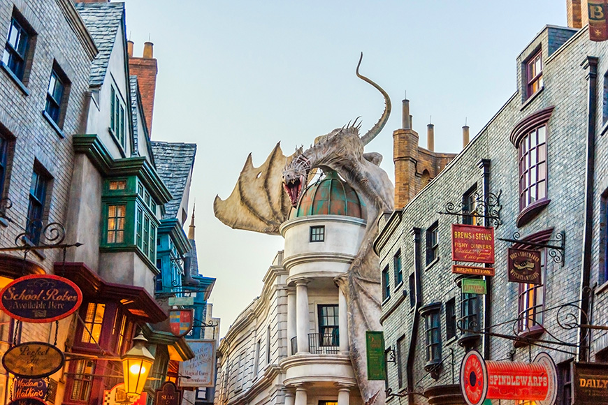 harry potter world at universal