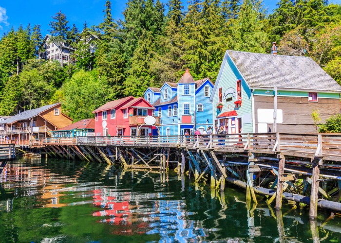 Ketchikan, Alaska. Creek Street, the historic broadwalk