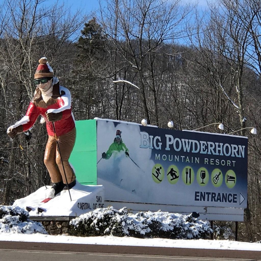 Big powderhorn ski resort in michigan, usa