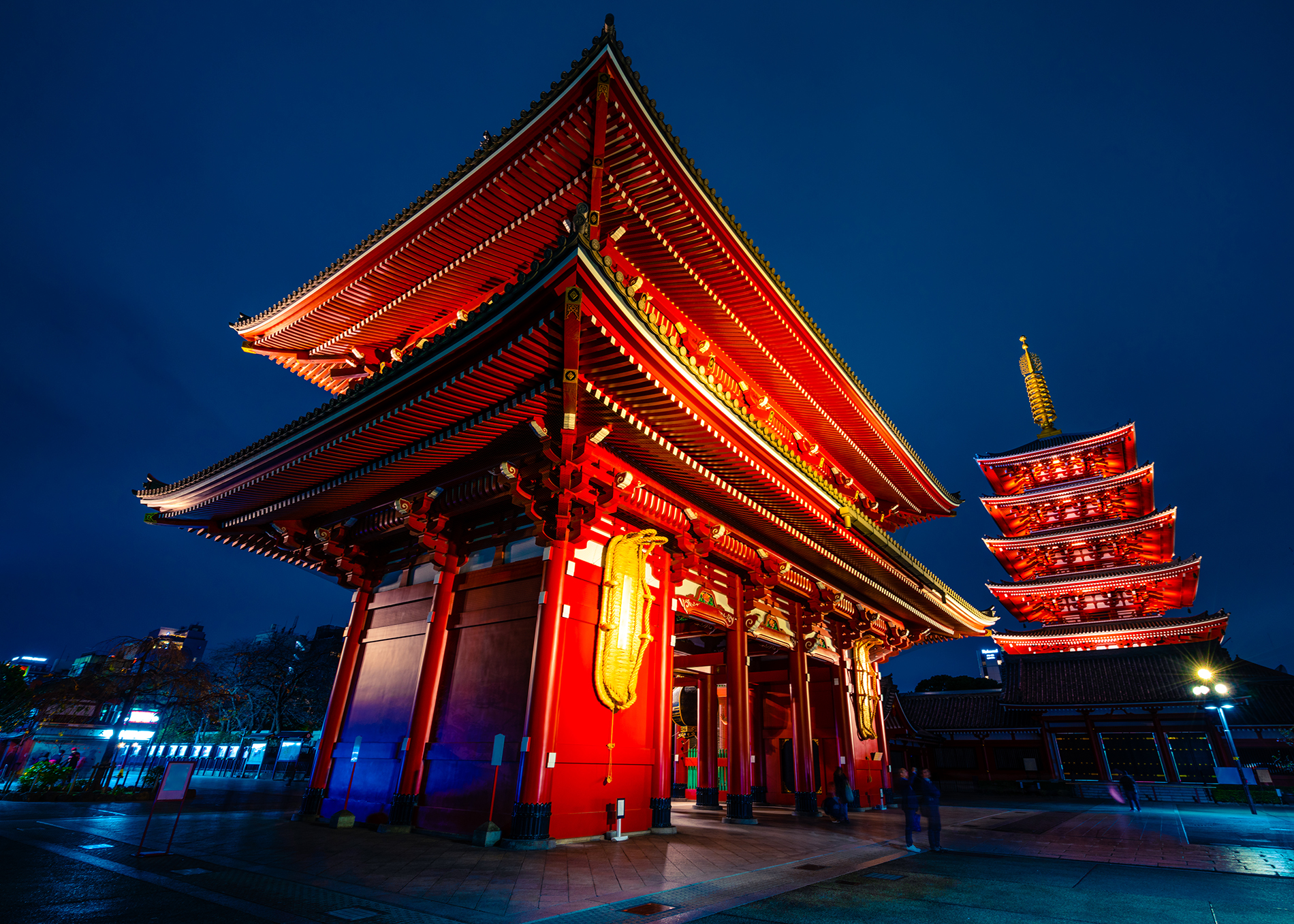 tokyo temple at night