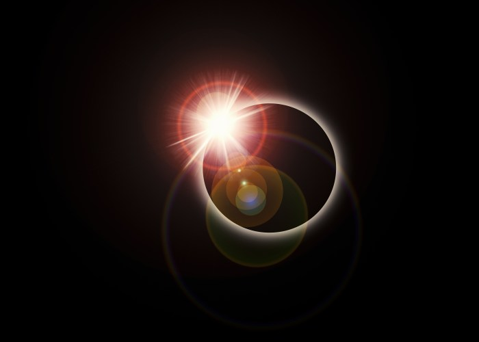 photo of a solar eclipse