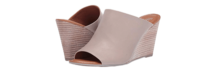 Tan wedge sandals by Franco Sarto
