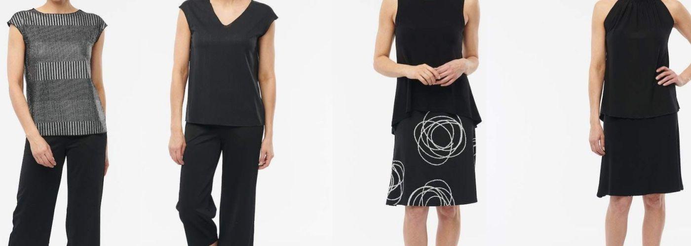 examples of Helene Clarkson reversible skirt and shirt