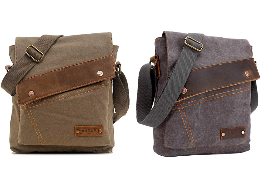 Sechunk canvas messenger bags shoulder crossbody purse daypack