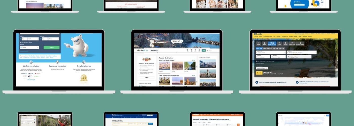 laptop screens booking sites