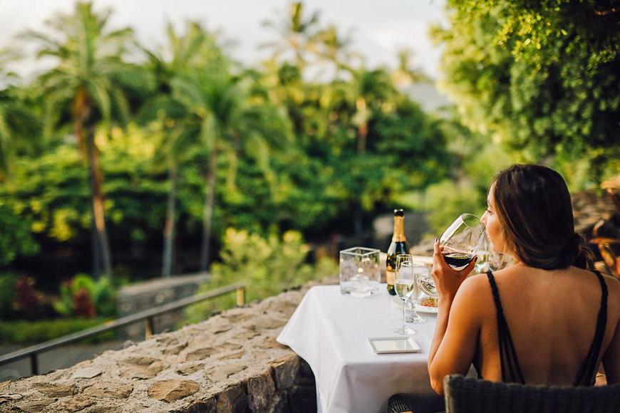Hotel Wailea, Maui Balcony view during breakfast