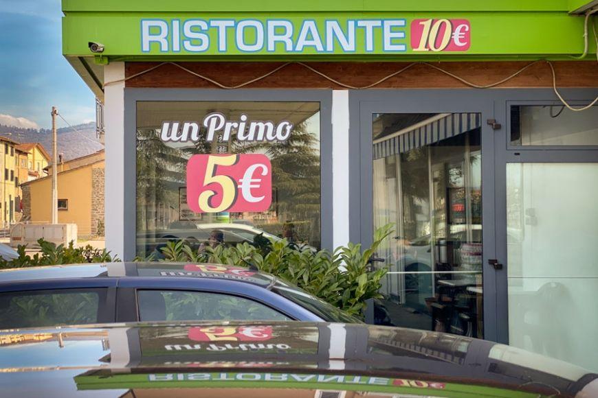 Italian restaurant in gas station.