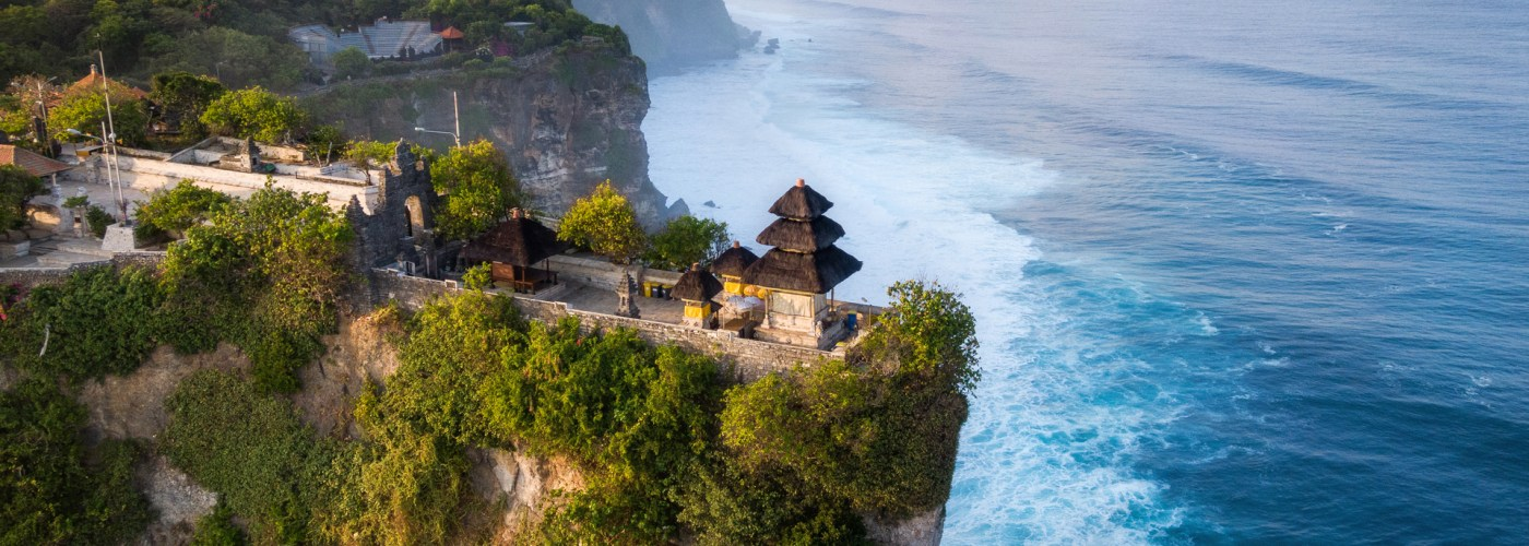 bali temple on the water