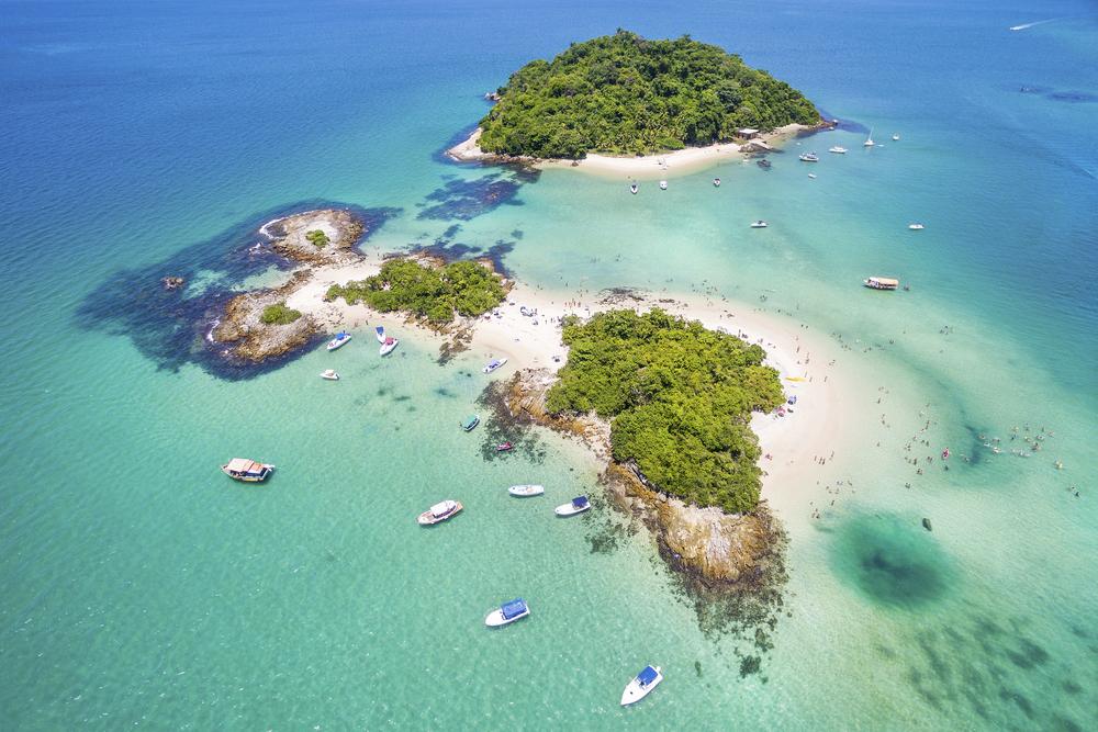 Cataguases Island in Angra dos Reis, Rio de Janeiro, Brazil.
