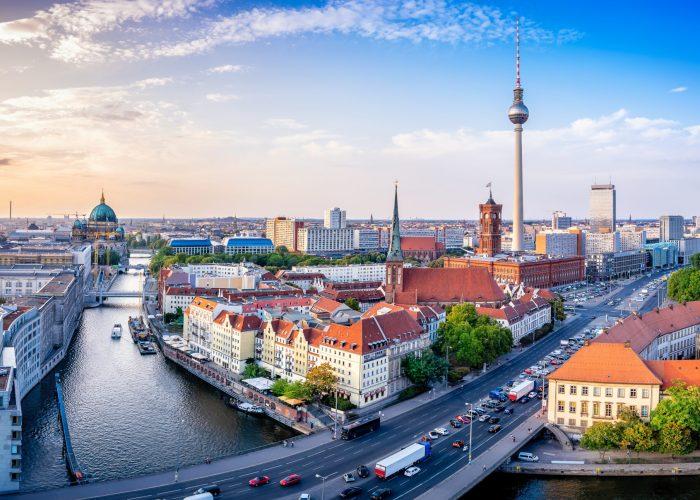 panoramic berlin skyline