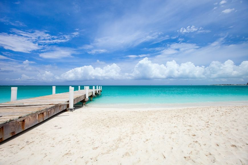 caribbean providenciales island in turks and caicos.