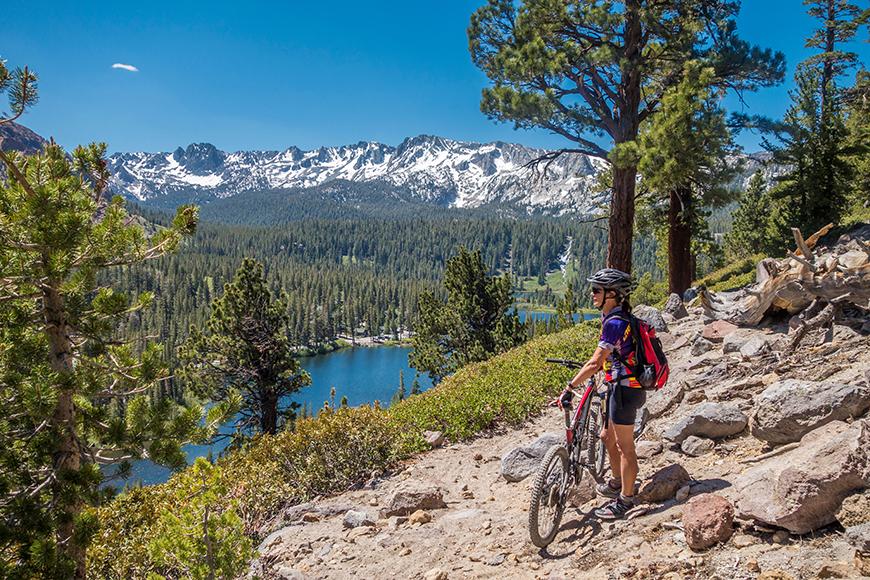 mountain biker twin lakes california.