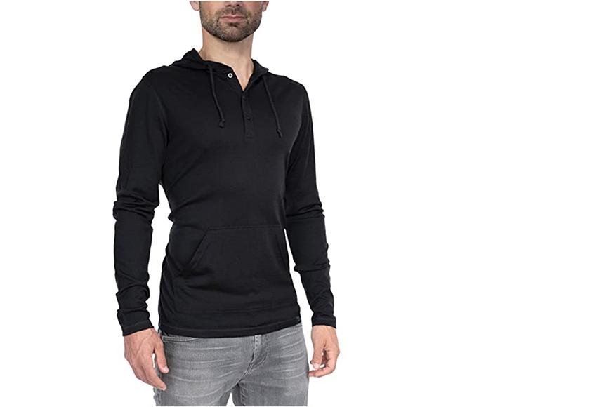 woolly clothing men's merino wool hoodie.