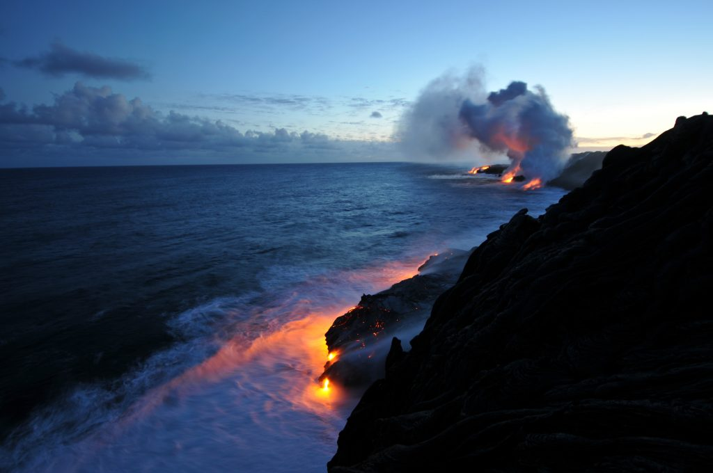 volcano meeting ocean