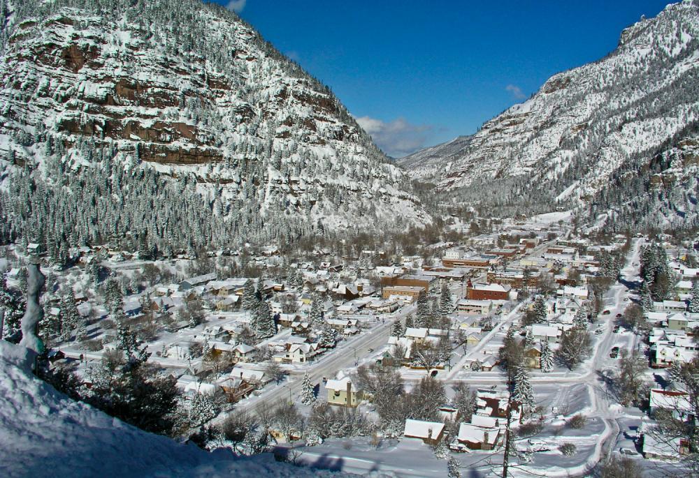 Ouray, Colorado in winter