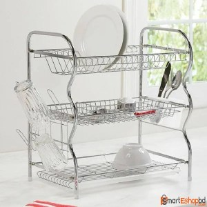 Stainless Steel 3 Layer Dish Drainer