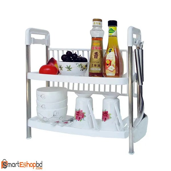 Two Layers Kitchen Storage Rack