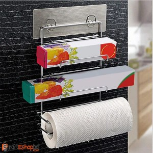 Magic Sticker Series Kitchen Paper Roll Holder Self Adhesive
