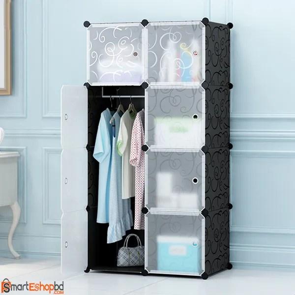Portable Plastic storage wardrobe