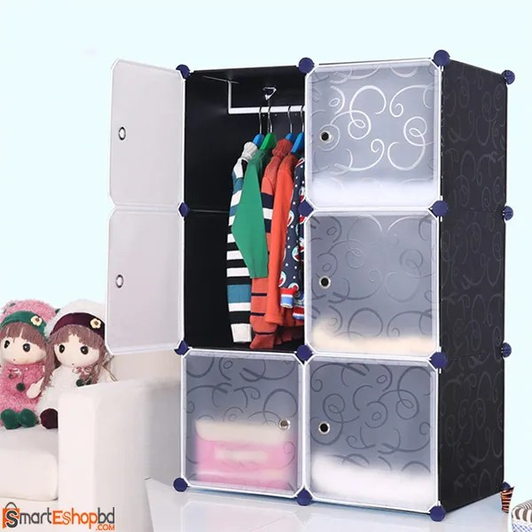 Portable Plastic storage wardrobe