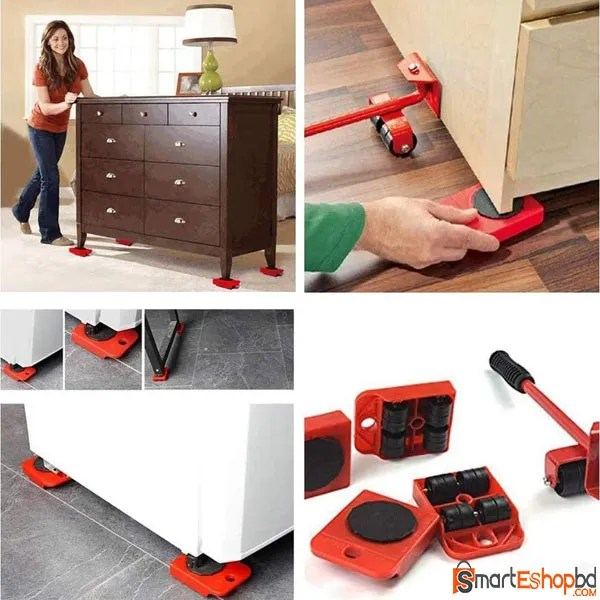 Furniture Lifter Easy Moving Sliders 5 Packs Mover Tool Set.