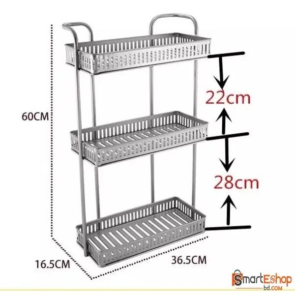 Kitchen Storage Rack Countertop Multilayer Seasoning Rack Spice Rack Shelf Kitchen Storage Organizer