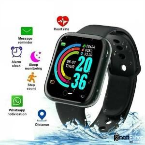 Y68 Bluetooth Smart Bracelet Color Screen Bracelet Heart Rate Sports Fitness Step Breathing Light Waterproof Movement Smartwatch