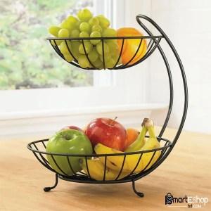 Steel Fruit Basket Bowl