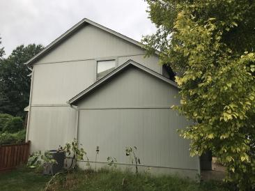 side of house with old siding