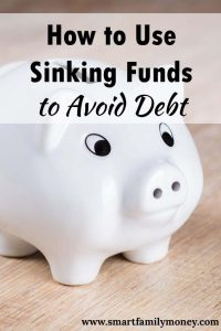 This post really helped us figure out how to use sinking funds!