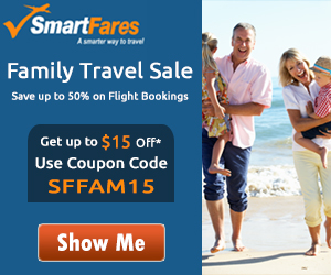 Exclusive Family Travel Deals. Book Now and Get Up To Flat $15 Off with Coupon Code: SFFAM15