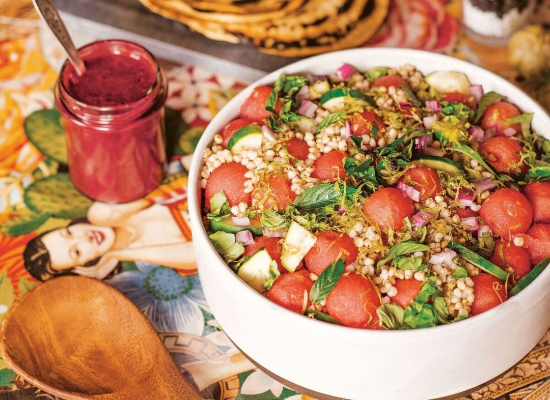 Watermelon-Sorghum Salad with Blackberry Vinaigrette