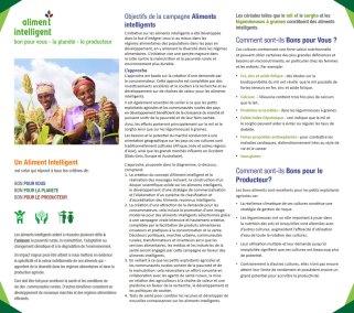 Aliment Intelligent: bon pour vous – la planète – le producteur