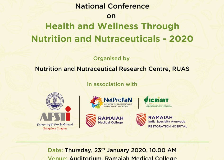 Ramaiah varsity to focus on health through nutra at meet from January 22