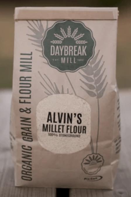 Alvin's millet flour by Daybreak Mill