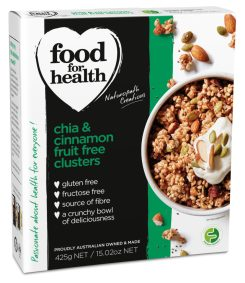 Chia and Cinnamon Fruit Free Clusters by Food for Health