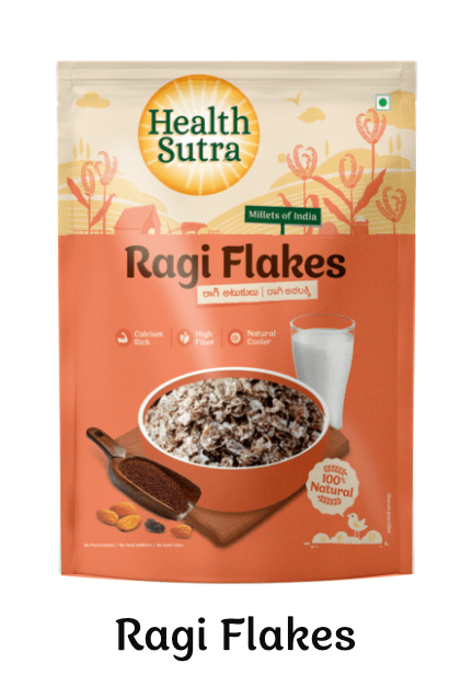 Ragi Flakes by Health Sutra, Fountainhead Foods