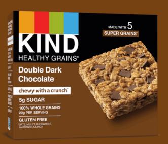 Healthy Grains Double Dark Chocolate Bars by KIND
