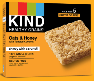 Healthy Grains Oats and Honey Bar by KIND