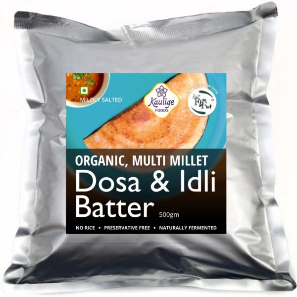 Multi Millet Dosa and Idli Batter by Kaulige